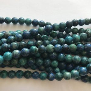 "Shop Chrysocolla Round Beads! natural Chrysocolla 6mm Round Shaped Gemstone Bead–15.5""–1 strand/3 strands 
