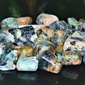 Shop Tumbled Chrysocolla Crystals & Pocket Stones! Natural Green Chrysocolla Stone 100 Gr Healing Power Awaking Meditation Crystals Meditation Tumbled | Natural genuine stones & crystals in various shapes & sizes. Buy raw cut, tumbled, or polished gemstones for making jewelry or crystal healing energy vibration raising reiki stones. #crystals #gemstones #crystalhealing #crystalsandgemstones #energyhealing #affiliate #ad