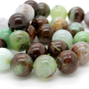 Chrysoprase, Natural Crysoprase Round Smooth Sphere Loose Ball Beads Gemstone – Full Strand | Natural genuine stones & crystals in various shapes & sizes. Buy raw cut, tumbled, or polished gemstones for making jewelry or crystal healing energy vibration raising reiki stones. #crystals #gemstones #crystalhealing #crystalsandgemstones #energyhealing #affiliate #ad