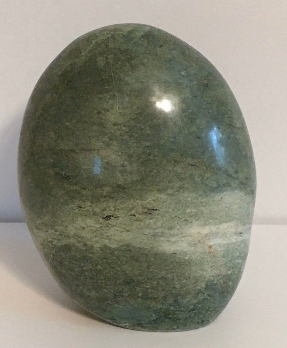 Chrysoprase Polished Standing Free Form, Healing Crystals And Stones, Chakra Stone, Spiritual Stone, Large Stone