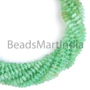 Shop Chrysoprase Rondelle Beads! Chrysoprase Plain Tyre Shape Natural Gemstone Beads, Chrysoprace Plain Beads, Smooth Chrysoprace Beads, Natural Chrysoprace Gemstone | Natural genuine rondelle Chrysoprase beads for beading and jewelry making.  #jewelry #beads #beadedjewelry #diyjewelry #jewelrymaking #beadstore #beading #affiliate #ad