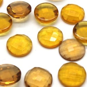 16mm Citrine faceted cabochons,round cabochons,gemstone cabochons,faceted gemstones,wholesale supplies – AA Quality – 1 Stone | Natural genuine stones & crystals in various shapes & sizes. Buy raw cut, tumbled, or polished gemstones for making jewelry or crystal healing energy vibration raising reiki stones. #crystals #gemstones #crystalhealing #crystalsandgemstones #energyhealing #affiliate #ad