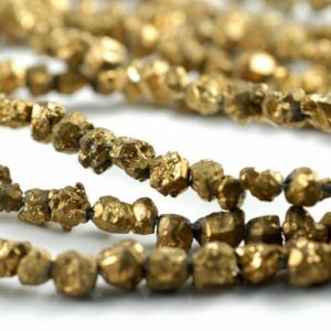 Shop Citrine Beads! 7-8MM Gold Nugget Natural Honey Citrine Gemstone Rugged Pebble Loose Beads 7.5 inch Half Strand (90181915-128) | Natural genuine beads Citrine beads for beading and jewelry making.  #jewelry #beads #beadedjewelry #diyjewelry #jewelrymaking #beadstore #beading #affiliate #ad