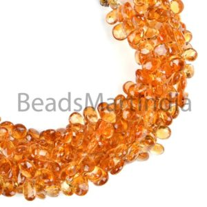 Shop Citrine Bead Shapes! citrine plain smooth pears Gemstone Beads, citrine plain Side drill Beads, citrine smooth Beads, citrine pears Beads,  AA Quality | Natural genuine other-shape Citrine beads for beading and jewelry making.  #jewelry #beads #beadedjewelry #diyjewelry #jewelrymaking #beadstore #beading #affiliate #ad