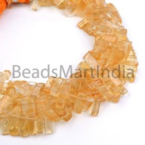Shop Citrine Bead Shapes! Citrine Plain Stick Shape Gemstone Beads, Citrine Fancy Shape Beads, Citrine Smooth Beads, Citrine Plain Beads, Citrine Fancy Beads | Natural genuine other-shape Citrine beads for beading and jewelry making.  #jewelry #beads #beadedjewelry #diyjewelry #jewelrymaking #beadstore #beading #affiliate #ad