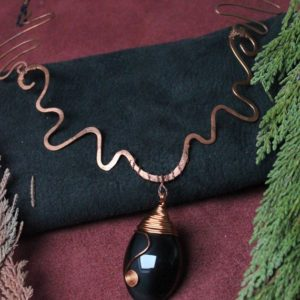 Shop Rainbow Obsidian Pendants! Copper and obsidian rainbow pendant, Egyptian style, osiris | Natural genuine Rainbow Obsidian pendants. Buy crystal jewelry, handmade handcrafted artisan jewelry for women.  Unique handmade gift ideas. #jewelry #beadedpendants #beadedjewelry #gift #shopping #handmadejewelry #fashion #style #product #pendants #affiliate #ad