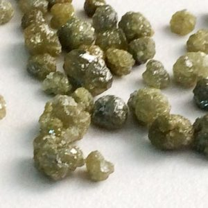 Shop Diamond Rondelle Beads! 3-5mm Green Rough Diamond Rondelles, Green Diamonds, Loose Diamonds, Rough Diamonds, 2 Pieces Conflict Free Raw Uncut Diamonds For Jewelry | Natural genuine rondelle Diamond beads for beading and jewelry making.  #jewelry #beads #beadedjewelry #diyjewelry #jewelrymaking #beadstore #beading #affiliate #ad