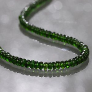 Shop Diopside Necklaces! CHROME DIOPSIDE STRAND Necklace, Green Necklace,Chrome Diopside Beads Necklace,Chrome Diopside Jewelry,Beaded Chrome Diopside Healing Stone | Natural genuine Diopside necklaces. Buy crystal jewelry, handmade handcrafted artisan jewelry for women.  Unique handmade gift ideas. #jewelry #beadednecklaces #beadedjewelry #gift #shopping #handmadejewelry #fashion #style #product #necklaces #affiliate #ad