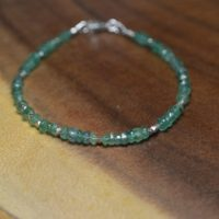 Emerald Bracelet In Sterling Silver, 14k Gold Fill / / May Birthstone / / Zambian Emerald / / Stacking Bracelet / / Everyday Emerald Jewelry | Natural genuine Gemstone jewelry. Buy crystal jewelry, handmade handcrafted artisan jewelry for women.  Unique handmade gift ideas. #jewelry #beadedjewelry #beadedjewelry #gift #shopping #handmadejewelry #fashion #style #product #jewelry #affiliate #ad