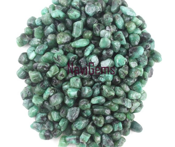 Best Quality 50 Piece Natural Emerald Rough,gemstone Rough ,6-8 Mm Approx,emerald Making Jewelry,undrilled,natural Raw,wholesale Price