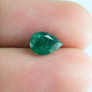 Shop Emerald Stones & Crystals! Natural Emerald 8.1×5.9×3.7mm Faceted Cut Pear 0.93 cts 1 PC AAA Grade Loose Gemstone , 100% Natural Green Emerald Gemstone – EMGRN-1087 | Natural genuine stones & crystals in various shapes & sizes. Buy raw cut, tumbled, or polished gemstones for making jewelry or crystal healing energy vibration raising reiki stones. #crystals #gemstones #crystalhealing #crystalsandgemstones #energyhealing #affiliate #ad