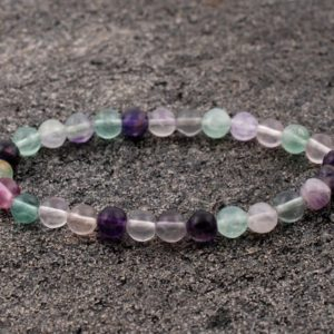 Shop Fluorite Bracelets! 6mm Rainbow Fluorite Bracelet, Purple fluorite Bracelets 6 mm, Fluorite Bracelets, Fluorite Bead Bracelet, Fluorite Crystals, Gift For Her, | Natural genuine Fluorite bracelets. Buy crystal jewelry, handmade handcrafted artisan jewelry for women.  Unique handmade gift ideas. #jewelry #beadedbracelets #beadedjewelry #gift #shopping #handmadejewelry #fashion #style #product #bracelets #affiliate #ad
