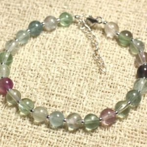 Shop Fluorite Bracelets! Bracelet 925 sterling silver and stone – Fluorite green 6mm | Natural genuine Fluorite bracelets. Buy crystal jewelry, handmade handcrafted artisan jewelry for women.  Unique handmade gift ideas. #jewelry #beadedbracelets #beadedjewelry #gift #shopping #handmadejewelry #fashion #style #product #bracelets #affiliate #ad