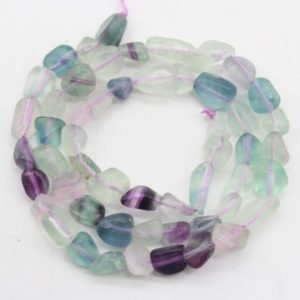 Shop Fluorite Chip & Nugget Beads! 6-7mm Nugget Natural Rainbow Fluorite beads,Irregular Multi color Gemstone beads,Loose Fluorite Pebble beads,Jewelry beads-15.5 -NST1220-11 | Natural genuine chip Fluorite beads for beading and jewelry making.  #jewelry #beads #beadedjewelry #diyjewelry #jewelrymaking #beadstore #beading #affiliate #ad