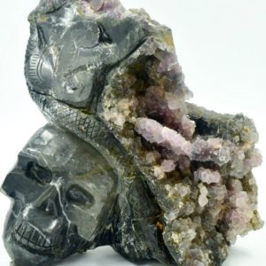 Shop Raw & Rough Fluorite Stones! Fluorite Geode Skull weighs 19.8  pounds | Natural genuine stones & crystals in various shapes & sizes. Buy raw cut, tumbled, or polished gemstones for making jewelry or crystal healing energy vibration raising reiki stones. #crystals #gemstones #crystalhealing #crystalsandgemstones #energyhealing #affiliate #ad