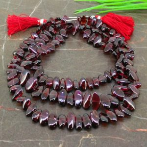 Shop Garnet Chip & Nugget Beads! Natural Garnet 8-14mm Smooth Irregular Shape Gemstone Beads / Approx. 132 Pieces on 32 Inch Long Strand / JBC-ET-156806 | Natural genuine chip Garnet beads for beading and jewelry making.  #jewelry #beads #beadedjewelry #diyjewelry #jewelrymaking #beadstore #beading #affiliate #ad