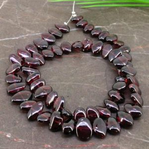 Shop Garnet Chip & Nugget Beads! Natural Garnet 9.5-14.5mm Smooth Nuggets Gemstone Beads / Approx 61 Pieces on 17 Inch Long Strand / JBC-ET-154913 | Natural genuine chip Garnet beads for beading and jewelry making.  #jewelry #beads #beadedjewelry #diyjewelry #jewelrymaking #beadstore #beading #affiliate #ad