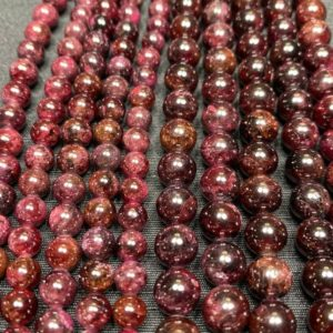 Shop Garnet Bead Shapes! Garnet Beads – Polished Garnet Bead –  15in Strand 6mm 8mm Bead Sizes – Garnet Strand – High Quality Garnet – Grade A Garnet | Natural genuine other-shape Garnet beads for beading and jewelry making.  #jewelry #beads #beadedjewelry #diyjewelry #jewelrymaking #beadstore #beading #affiliate #ad