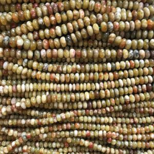 Shop Garnet Rondelle Beads! natural green garnet 6mm 8mm 10mm Roundell  Beads–15.5 inch, garnet/Gemstone Beads | Natural genuine rondelle Garnet beads for beading and jewelry making.  #jewelry #beads #beadedjewelry #diyjewelry #jewelrymaking #beadstore #beading #affiliate #ad
