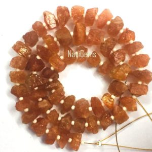Shop Sunstone Chip & Nugget Beads! Good Quality 50 Pieces Natural Sunstone Rough, Red Sunstone Raw, 6-8 MM Size, Center Drilled Sunstone, Rough Gemstone, Wholesale Price | Natural genuine chip Sunstone beads for beading and jewelry making.  #jewelry #beads #beadedjewelry #diyjewelry #jewelrymaking #beadstore #beading #affiliate #ad