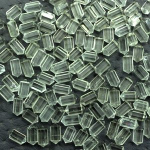 Shop Green Amethyst Beads! 5 Pieces Natural Green Amethyst Gemstone, Faceted Double Point Pencil shape Beads, Size 5×10 MM Amethyst Pencil Making Jewelry Wholesale | Natural genuine faceted Green Amethyst beads for beading and jewelry making.  #jewelry #beads #beadedjewelry #diyjewelry #jewelrymaking #beadstore #beading #affiliate #ad