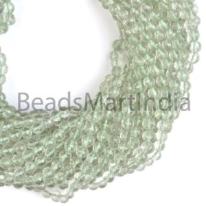 Shop Green Amethyst Beads! Green Amethyst Faceted Round Indian Cut, Green Amethyst Beads, Green Amethyst Faceted Round Cut Beads, Green Amethyst Wholesale Beads | Natural genuine faceted Green Amethyst beads for beading and jewelry making.  #jewelry #beads #beadedjewelry #diyjewelry #jewelrymaking #beadstore #beading #affiliate #ad