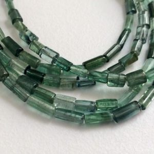 Shop Green Tourmaline Necklaces! 4-8mm Rare Green Tourmaline Plain Pipe Beads, Natural Green Tourmaline Fancy Sticks, 7 Inch Green Tourmaline Designer For Jewelry – Pdg44 | Natural genuine Green Tourmaline necklaces. Buy crystal jewelry, handmade handcrafted artisan jewelry for women.  Unique handmade gift ideas. #jewelry #beadednecklaces #beadedjewelry #gift #shopping #handmadejewelry #fashion #style #product #necklaces #affiliate #ad
