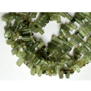 Shop Green Tourmaline Beads! Green Tourmaline Beads – Tourmaline – Tourmaline Designer Stick Pencil Beads – Finest Quality Green Tourmaline Beads 6mm To 7mm, 8 Inch | Natural genuine other-shape Green Tourmaline beads for beading and jewelry making.  #jewelry #beads #beadedjewelry #diyjewelry #jewelrymaking #beadstore #beading #affiliate #ad