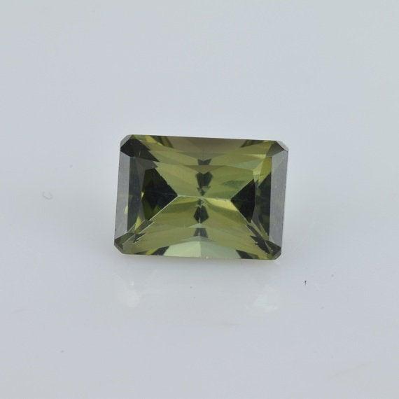 1.14 Cts Natural Green Tourmaline 7x5x4.10 Mm Octagon Loose Gemstone , Natural Green Tourmaline Gemstone - Green Tourmaline Ring, Tugrn-1054