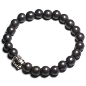 Matte Buddha and gemstone – Hematite bracelet | Natural genuine Gemstone bracelets. Buy crystal jewelry, handmade handcrafted artisan jewelry for women.  Unique handmade gift ideas. #jewelry #beadedbracelets #beadedjewelry #gift #shopping #handmadejewelry #fashion #style #product #bracelets #affiliate #ad