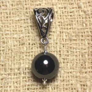 Shop Hematite Pendants! Semi precious – 12 mm Hematite stone pendant | Natural genuine Hematite pendants. Buy crystal jewelry, handmade handcrafted artisan jewelry for women.  Unique handmade gift ideas. #jewelry #beadedpendants #beadedjewelry #gift #shopping #handmadejewelry #fashion #style #product #pendants #affiliate #ad