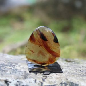 Shop Amber Cabochons! Indo amber cabochon | Natural genuine stones & crystals in various shapes & sizes. Buy raw cut, tumbled, or polished gemstones for making jewelry or crystal healing energy vibration raising reiki stones. #crystals #gemstones #crystalhealing #crystalsandgemstones #energyhealing #affiliate #ad
