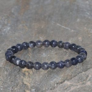 Shop Iolite Bracelets! Dainty Iolite Beaded Bracelet Stacking Handmade 6mm Dark Purple Violet Iolite Beaded Natural Gemstone Bracelet Creative Expression Bracelet | Natural genuine Iolite bracelets. Buy crystal jewelry, handmade handcrafted artisan jewelry for women.  Unique handmade gift ideas. #jewelry #beadedbracelets #beadedjewelry #gift #shopping #handmadejewelry #fashion #style #product #bracelets #affiliate #ad