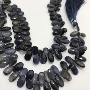 Shop Iolite Faceted Beads! Iolite Faceted Pears 6x9to6x12mm 8 Inches 105 Cts / iolite / faceted Pears / semiprecious Stone Beads / gemstone Beads / superfine Beads / rare Beads. | Natural genuine faceted Iolite beads for beading and jewelry making.  #jewelry #beads #beadedjewelry #diyjewelry #jewelrymaking #beadstore #beading #affiliate #ad
