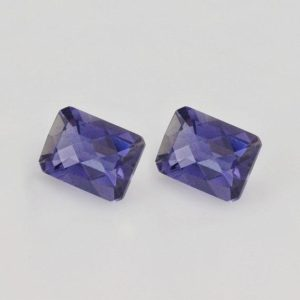 Shop Iolite Shapes! 2.76 cts Natural Blue Iolite 8x6x4.5 mm Checker Cut Octagon 2 Piece Loose Gemstone – 100% Natural Blue Iolite Gemstone , Iolite , IOBLU-1023 | Natural genuine stones & crystals in various shapes & sizes. Buy raw cut, tumbled, or polished gemstones for making jewelry or crystal healing energy vibration raising reiki stones. #crystals #gemstones #crystalhealing #crystalsandgemstones #energyhealing #affiliate #ad