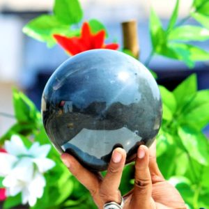 Shop Iolite Shapes! Huge 135MM Grey Iolite Rock And Minerals Metaphysical Healing Power Sphere Ball | Natural genuine stones & crystals in various shapes & sizes. Buy raw cut, tumbled, or polished gemstones for making jewelry or crystal healing energy vibration raising reiki stones. #crystals #gemstones #crystalhealing #crystalsandgemstones #energyhealing #affiliate #ad