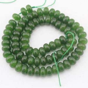 Shop Jade Rondelle Beads! Full strand dark green Jade Beads ,Jade Rondelle Beads Jade Beads.Wholesale  Gemstone beads,15.5  inches– 80 Pcs–EBT108 | Natural genuine rondelle Jade beads for beading and jewelry making.  #jewelry #beads #beadedjewelry #diyjewelry #jewelrymaking #beadstore #beading #affiliate #ad