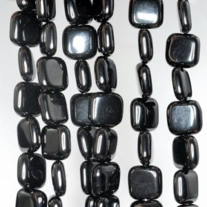Shop Jet Beads! 10x10mm Black Jet Gemstone Perfect Square 10mm Loose Beads 16 inch Full Strand (90186910-824)   Natural genuine other-shape Jet beads for beading and jewelry making.  #jewelry #beads #beadedjewelry #diyjewelry #jewelrymaking #beadstore #beading #affiliate #ad