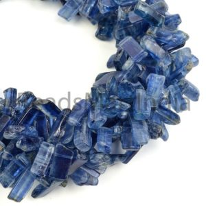 Shop Kyanite Bead Shapes! Natural Kyanite Plain Stick Shape Beads, Kyanite Fancy Shape Gemstone Beads, Kyanite Plain Beads, Kyanite Smooth Beads, Kyanite Beads | Natural genuine other-shape Kyanite beads for beading and jewelry making.  #jewelry #beads #beadedjewelry #diyjewelry #jewelrymaking #beadstore #beading #affiliate #ad