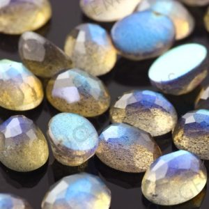 Shop Labradorite Cabochons! Labradorite Rose Cut Cabochon 6x8mm Oval – 1 cab, oval cabochon, labradorite oval, labradorite gemstone, 8x6mm oval, oval rose cut | Natural genuine stones & crystals in various shapes & sizes. Buy raw cut, tumbled, or polished gemstones for making jewelry or crystal healing energy vibration raising reiki stones. #crystals #gemstones #crystalhealing #crystalsandgemstones #energyhealing #affiliate #ad
