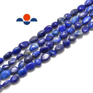 "Shop Lapis Lazuli Chip & Nugget Beads! Natural Lapis Lazuli Nugget Size 5-8mm Approx 15.5"" Strand . 