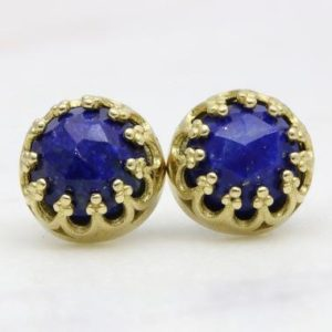 Delicate lapis lazuli earrings,gemstone earrings,birthstone earrings,bridal earrings,precious earrings for woman,gold earrings | Natural genuine Gemstone earrings. Buy handcrafted artisan wedding jewelry.  Unique handmade bridal jewelry gift ideas. #jewelry #beadedearrings #gift #crystaljewelry #shopping #handmadejewelry #wedding #bridal #earrings #affiliate #ad