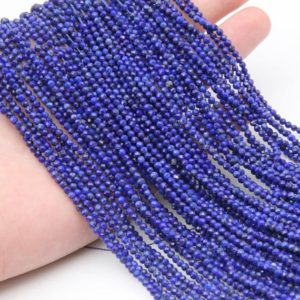 Shop Lapis Lazuli Faceted Beads! Natural Lapis Lazuli Faceted Round Beads,Semi Precious Stone Beads,2mm/3mm/4mm Gemstone Beads,Loose Jewelry Beads,Full 15.3 Inch Strand. | Natural genuine faceted Lapis Lazuli beads for beading and jewelry making.  #jewelry #beads #beadedjewelry #diyjewelry #jewelrymaking #beadstore #beading #affiliate #ad