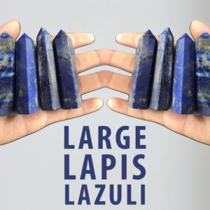 Shop Lapis Lazuli Stones & Crystals! Large Lapis Lazuli Crystal Wand Point Tower Reiki Chakra Healing Crystals and Stones | Natural genuine stones & crystals in various shapes & sizes. Buy raw cut, tumbled, or polished gemstones for making jewelry or crystal healing energy vibration raising reiki stones. #crystals #gemstones #crystalhealing #crystalsandgemstones #energyhealing #affiliate #ad