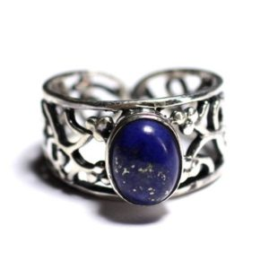 Shop Lapis Lazuli Rings! N224 – Ring 925 sterling silver and gemstone – Lapis Lazuli 9x7mm | Natural genuine Lapis Lazuli rings, simple unique handcrafted gemstone rings. #rings #jewelry #shopping #gift #handmade #fashion #style #affiliate #ad