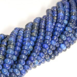 6x4mm Lapis Lazuli Gemstone Grade AA Blue Rondelle 6x4mm Loose Beads 16 inch Full Strand (90188809-82) | Natural genuine beads Array beads for beading and jewelry making.  #jewelry #beads #beadedjewelry #diyjewelry #jewelrymaking #beadstore #beading #affiliate #ad