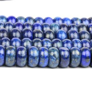 Shop Lapis Lazuli Rondelle Beads! Large Lapis Lazuli Beads, large Rondelle Beads, gemstone Beads, loose Beads, semiprecious Beads, september Beads, wheel Beads – Aa Quality | Natural genuine rondelle Lapis Lazuli beads for beading and jewelry making.  #jewelry #beads #beadedjewelry #diyjewelry #jewelrymaking #beadstore #beading #affiliate #ad