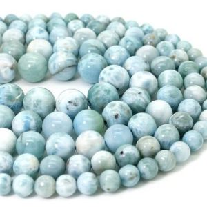 Shop Larimar Round Beads! Genunie Natural Larimar, High Quality Larimar Smooth Round Sphere Ball Loose Gemstone Beads (6mm 8mm 10mm 11mm 12mm 14mm) – PG316 | Natural genuine round Larimar beads for beading and jewelry making.  #jewelry #beads #beadedjewelry #diyjewelry #jewelrymaking #beadstore #beading #affiliate #ad
