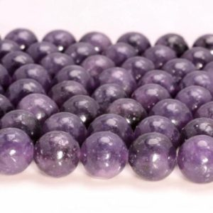 Shop Lepidolite Beads! 6mm Genuine Natural Purple Lepidolite Gemstone Grade AA Purple Round Loose Beads 15.5 inch Full Strand (80006842-A223) | Natural genuine round Lepidolite beads for beading and jewelry making.  #jewelry #beads #beadedjewelry #diyjewelry #jewelrymaking #beadstore #beading #affiliate #ad