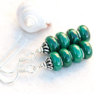 Shop Malachite Earrings! Malachite Earrings, Green Natural Stone Earrings, Green Earrings, Sterling Silver, Heart Chakra, Healing Energies, Taurus Zodiac Earrings | Natural genuine Malachite earrings. Buy crystal jewelry, handmade handcrafted artisan jewelry for women.  Unique handmade gift ideas. #jewelry #beadedearrings #beadedjewelry #gift #shopping #handmadejewelry #fashion #style #product #earrings #affiliate #ad